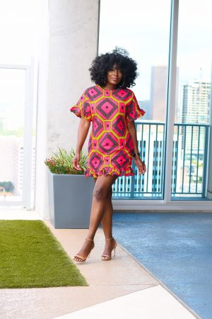 Mayowa Ankara shift dress