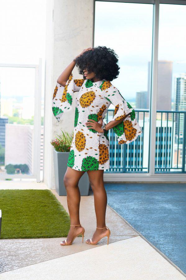 african print Ankara shift dress