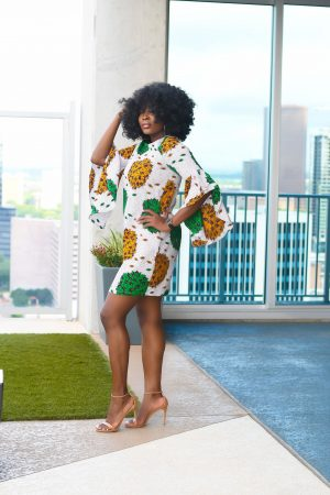 african print Ankara shift dress